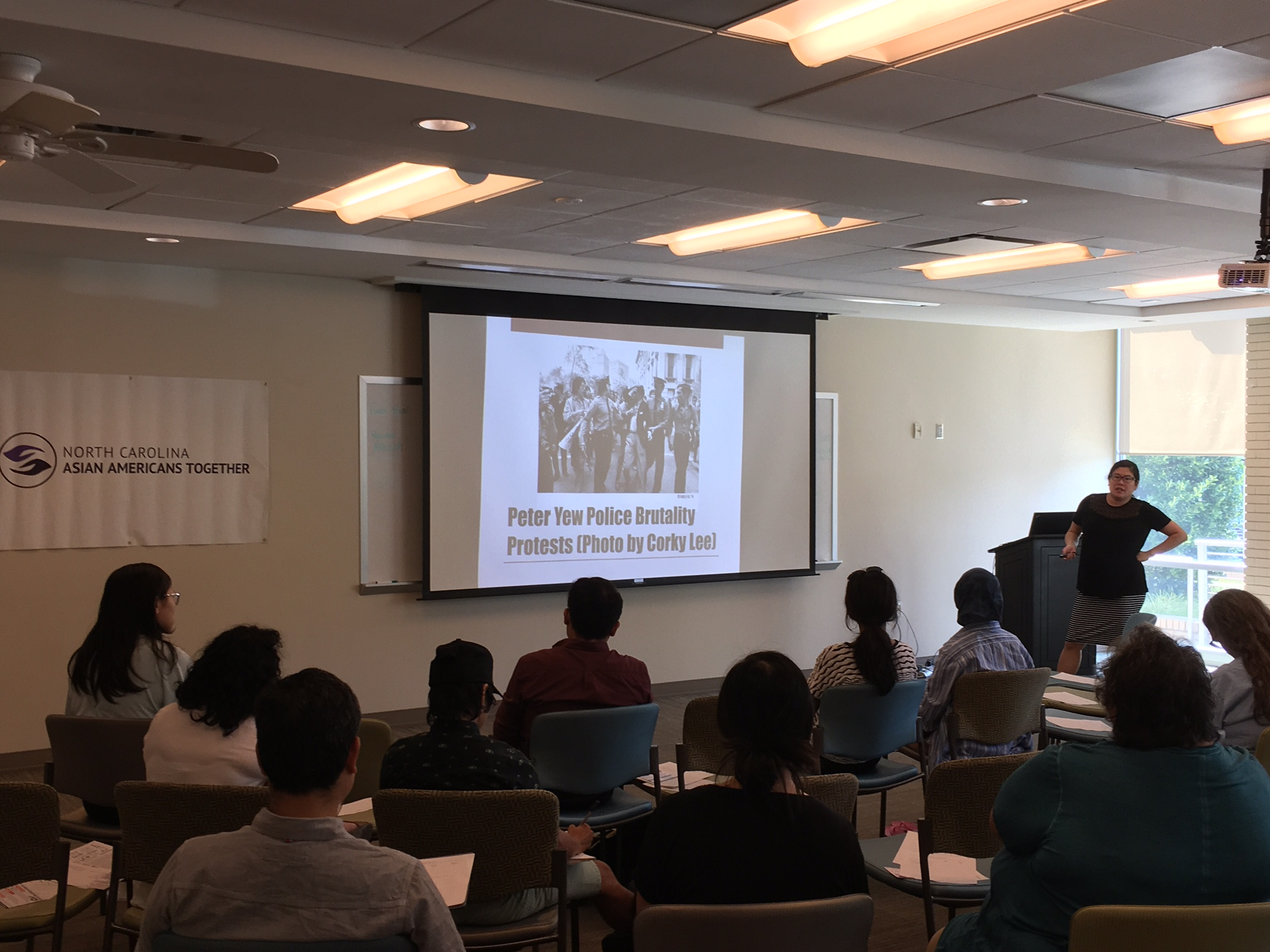 Discussing AAPI activism during our From Collective Marginalization to Collective Power workshop, September 2017
